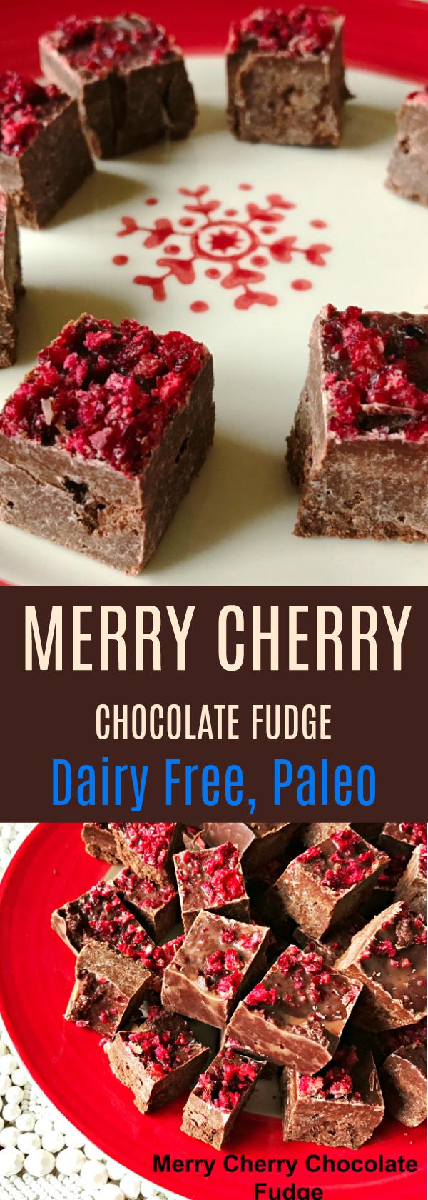 Merry Cherry Chocolate Fudge Dairy Free, Paleo