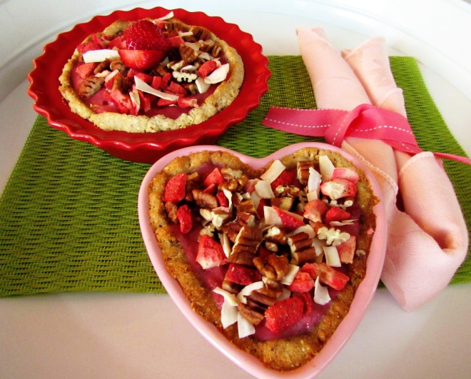 Strawberry Pecan Granola Tarts