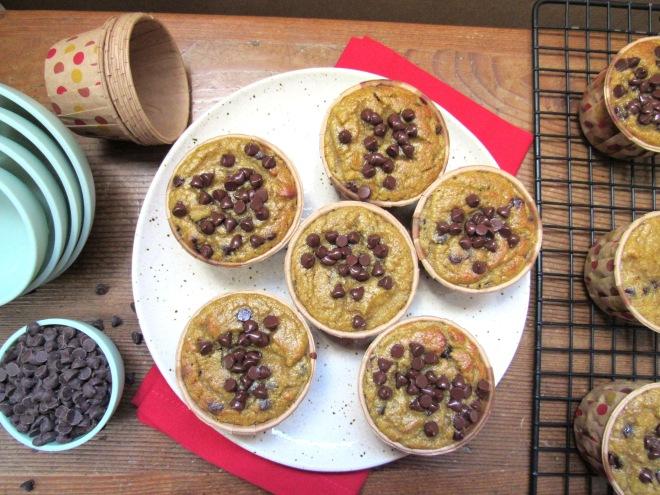 Coconut Flour Chocolate Chip Banana Muffins