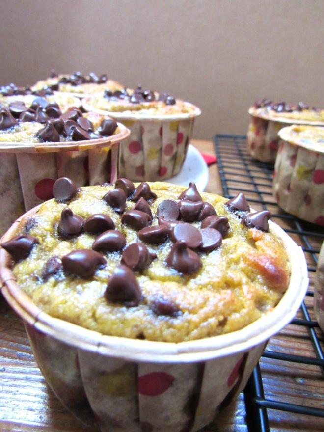 Grain Free Chocolate Chip Banana Muffins