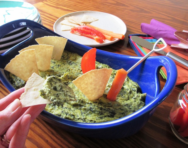 Hot Spinach Artichoke Dip - Dairy and Gluten Free
