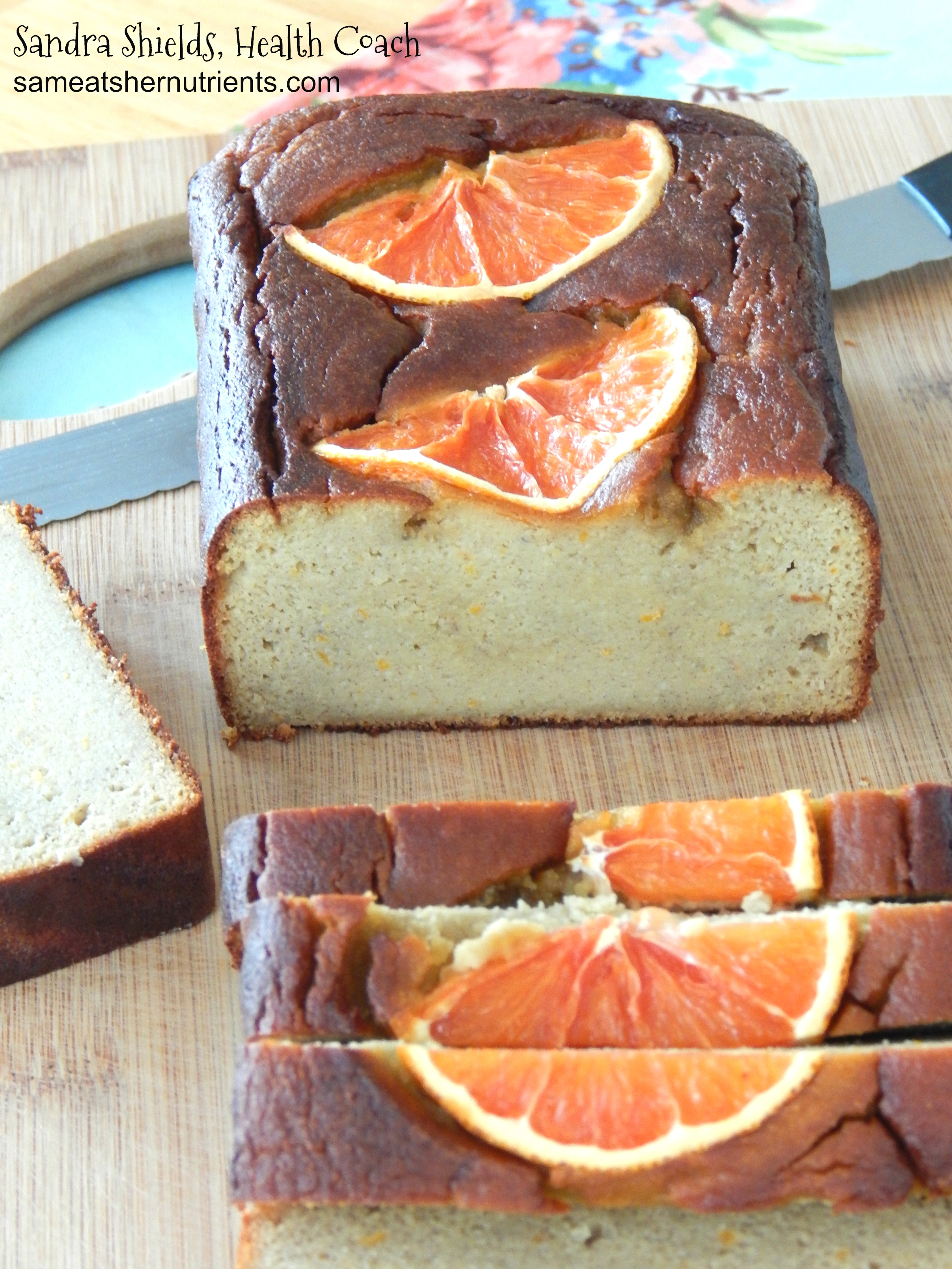 Coconut Flour Orange Quick Bread