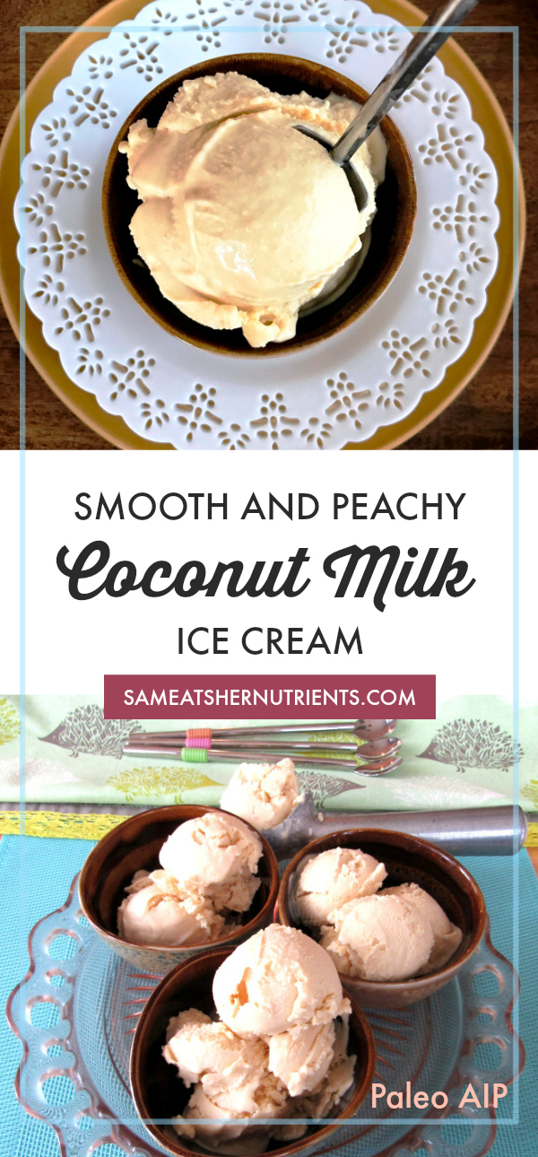 Smooth and Peachy Coconut Milk Ice Cream, Dairy Free, Paleo and AIP