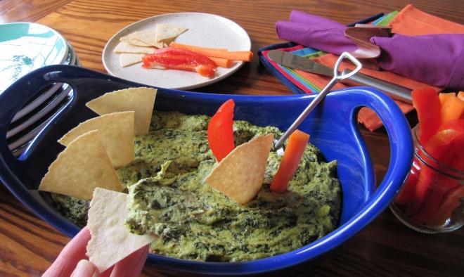 Hot Spinach Artichoke Dip - Gluten Free, Dairy Free