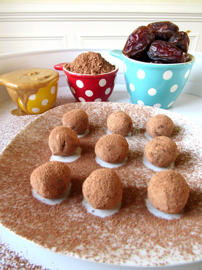 Three Ingredient Chocolate Peanut Butter Balls - Yummy!
