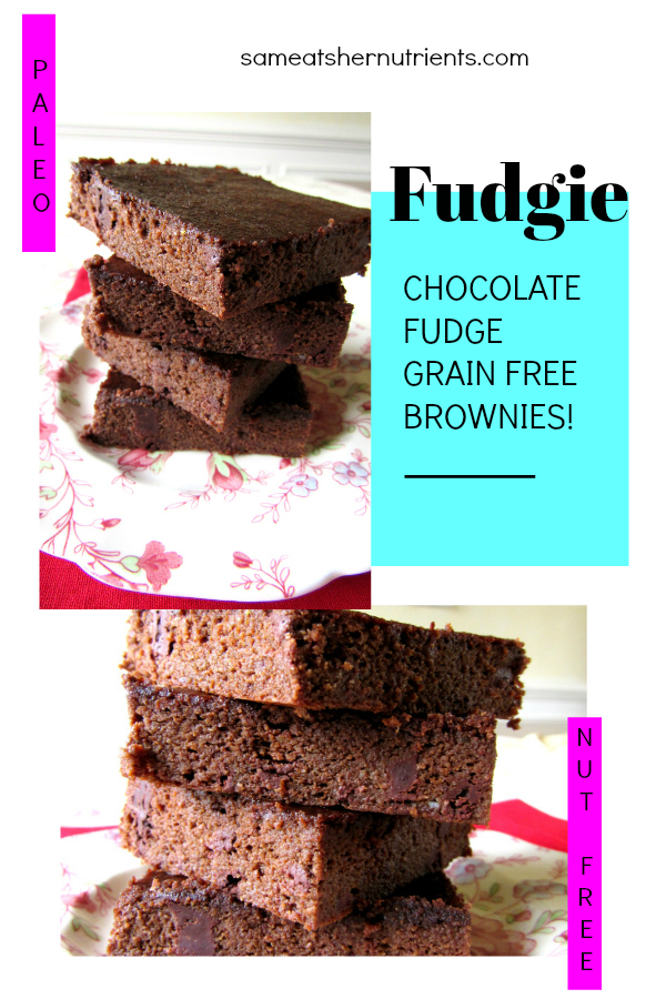 These Chocolate Fudge Grain Free Brownies are Fudgie Perfection! Gluten Free, Nut Free, Dairy Free!