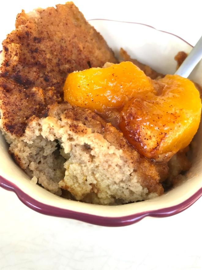 Grain Free Peach Cobbler