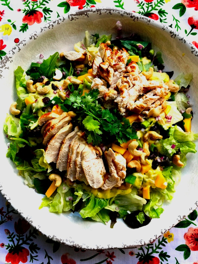 Mango Cashew Chicken Dinner Salad