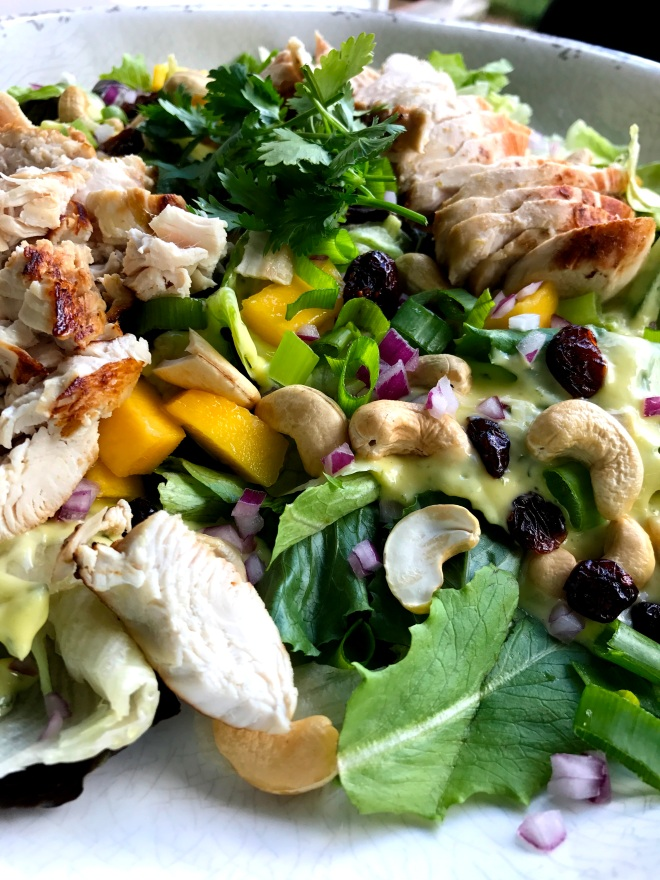 Mango Cashew Chicken Summer Salad