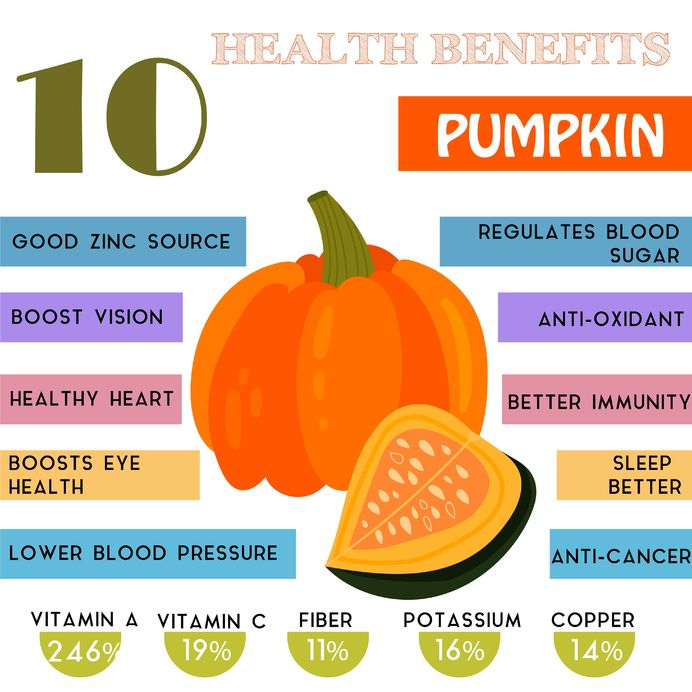 43580275 - 10 health benefits information of pumpkin. nutrients infographic