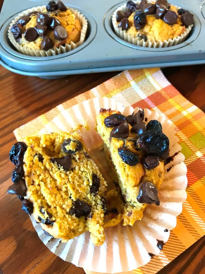 Pumpkin Spice Muffin - halved