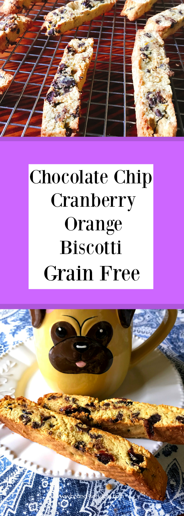 Chocolate Chip Cranberry Orange Biscotti - Grain Free and Paleo