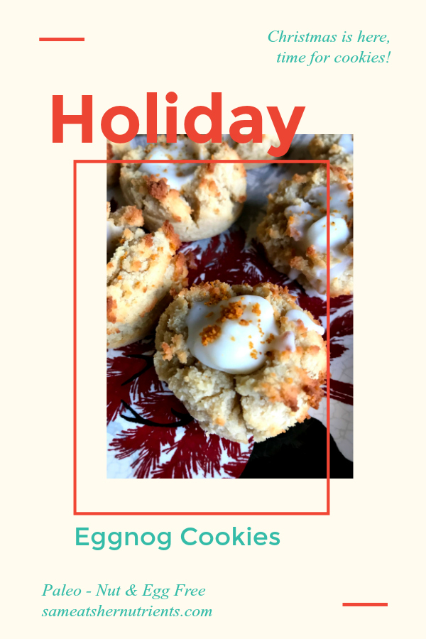 Holiday Eggnog Cookies - Nut and Egg Free