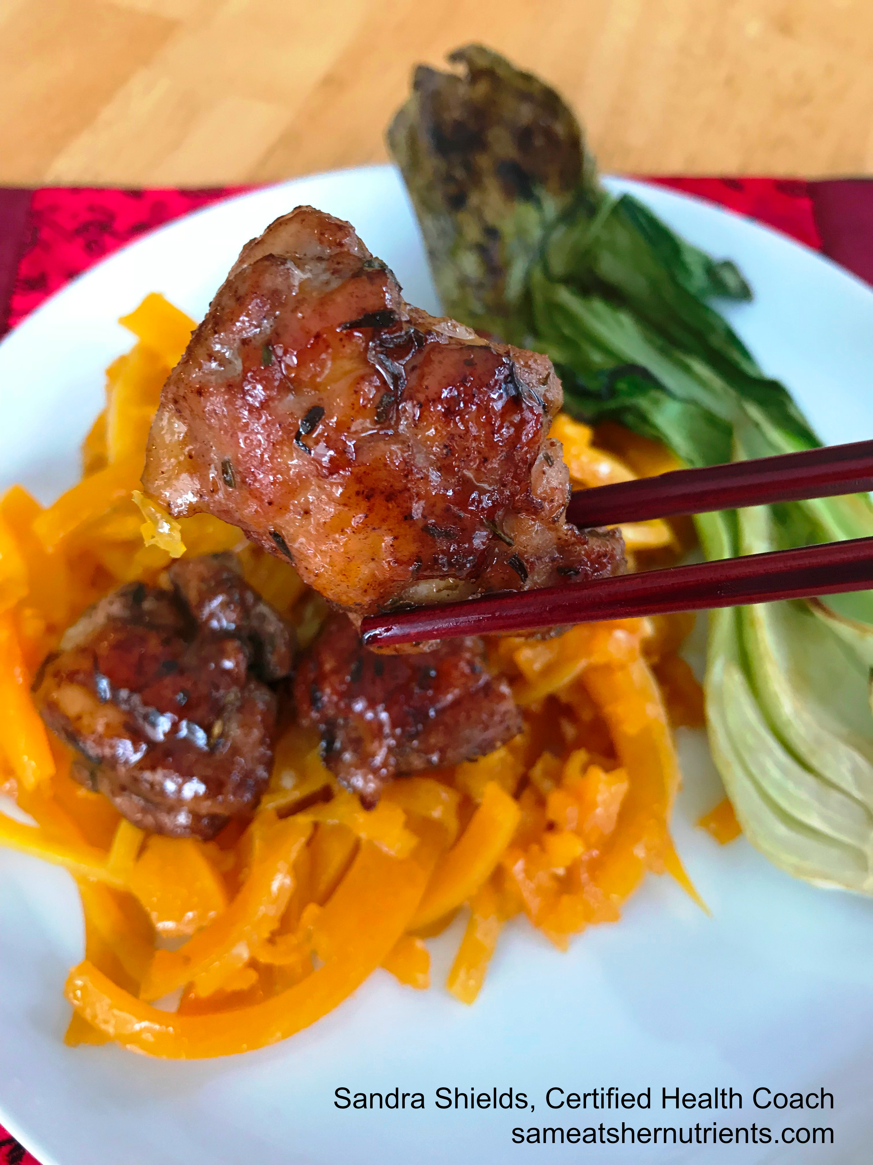 Chinese Chicken and Noodles with Bok Choy - AIP Paleo - Nightshade Free