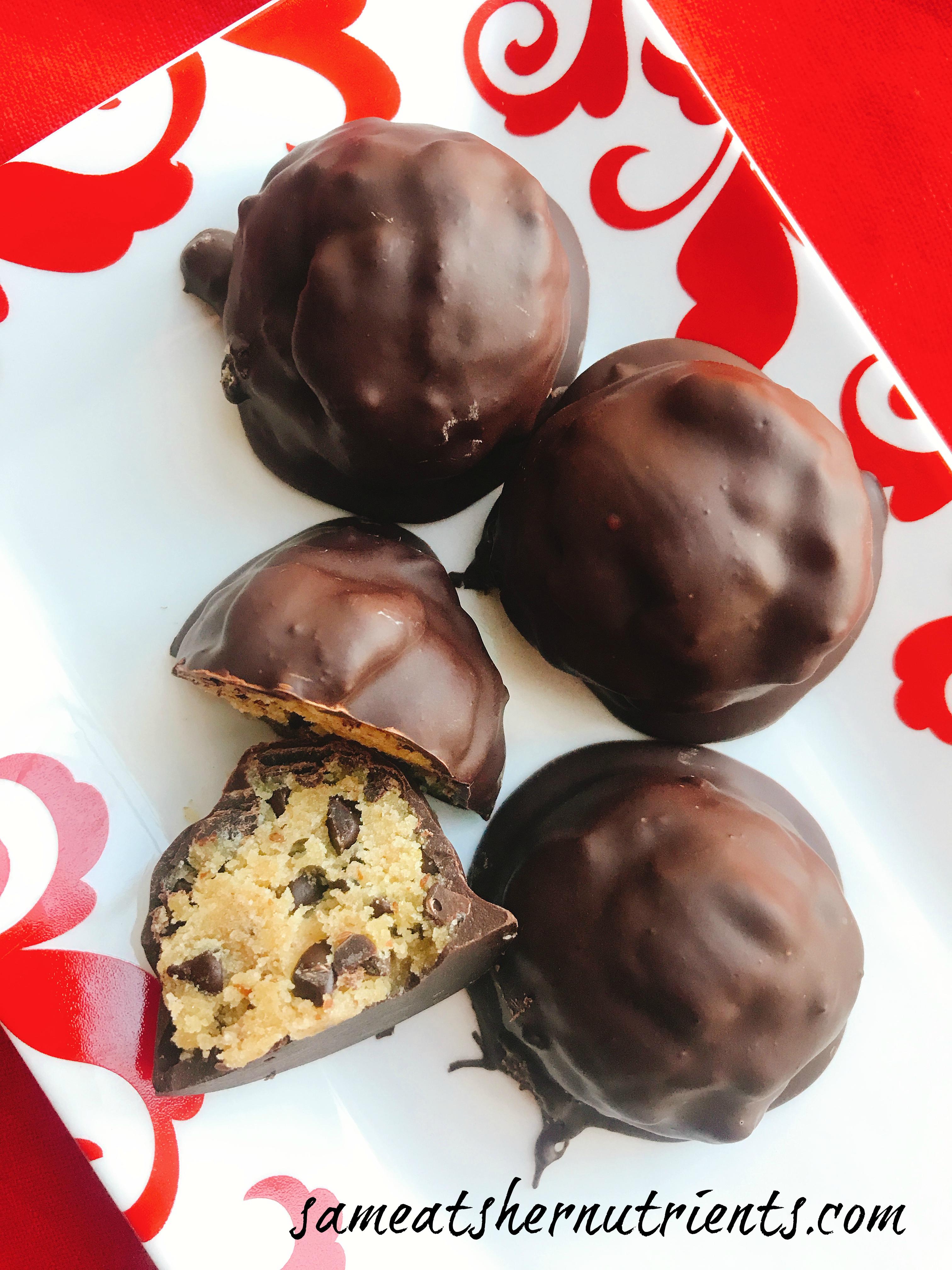 Chocolate Chip Cookie Dough Balls - Dairy Free