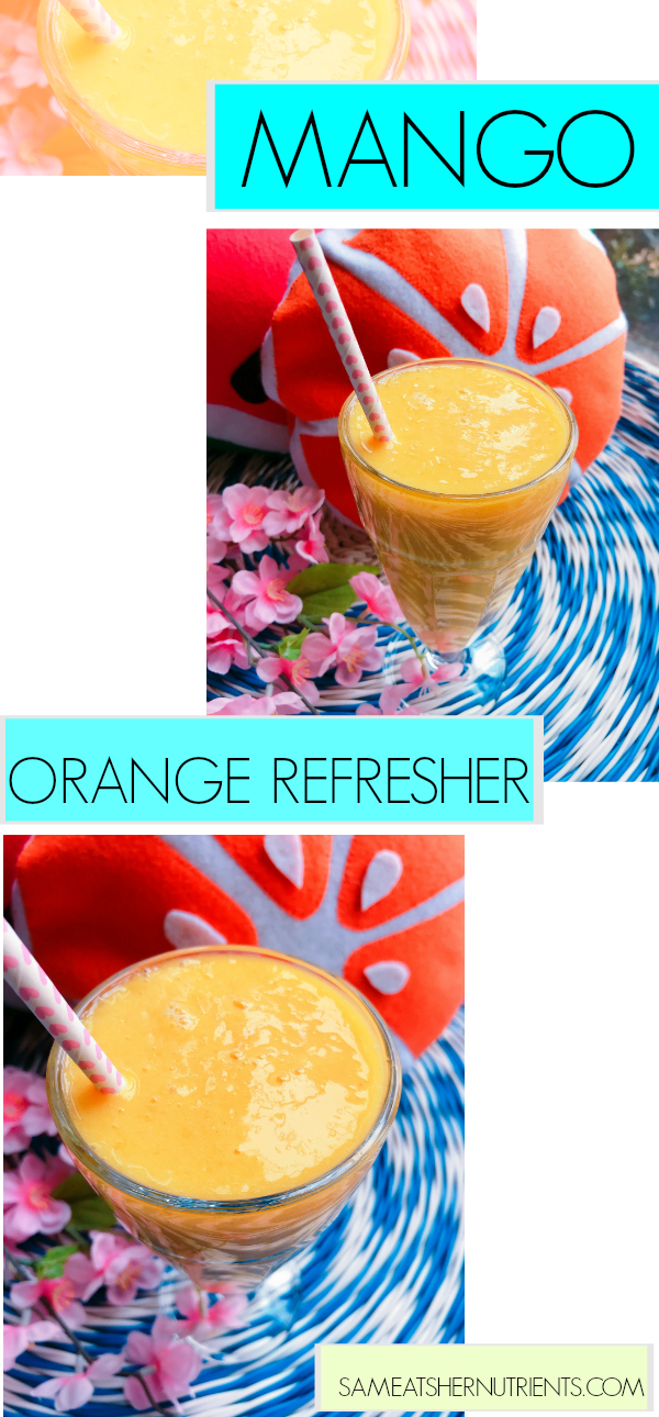 Mango Orange Refresher - Real Mango and Ginger in this refreshing drink! AIP Paleo and Gluten Free