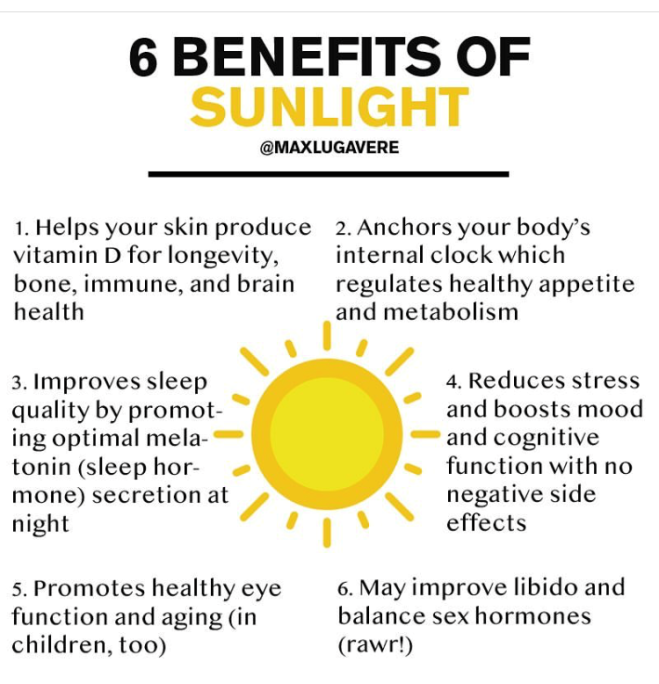 benefits of sun