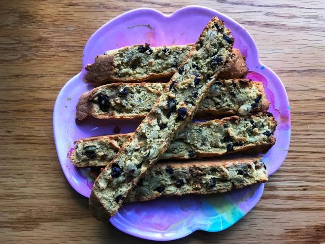 Blueberry Pumpkin Seed Biscotti - Grain, Dairy, Nut Free