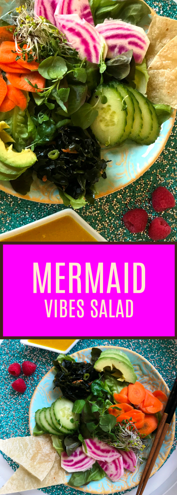 Mermaid Vibes Salad - For Your Inner Mermaid! Delicious Light Salad that is Gluten and Soy Free. Spa Quality and Healthy!