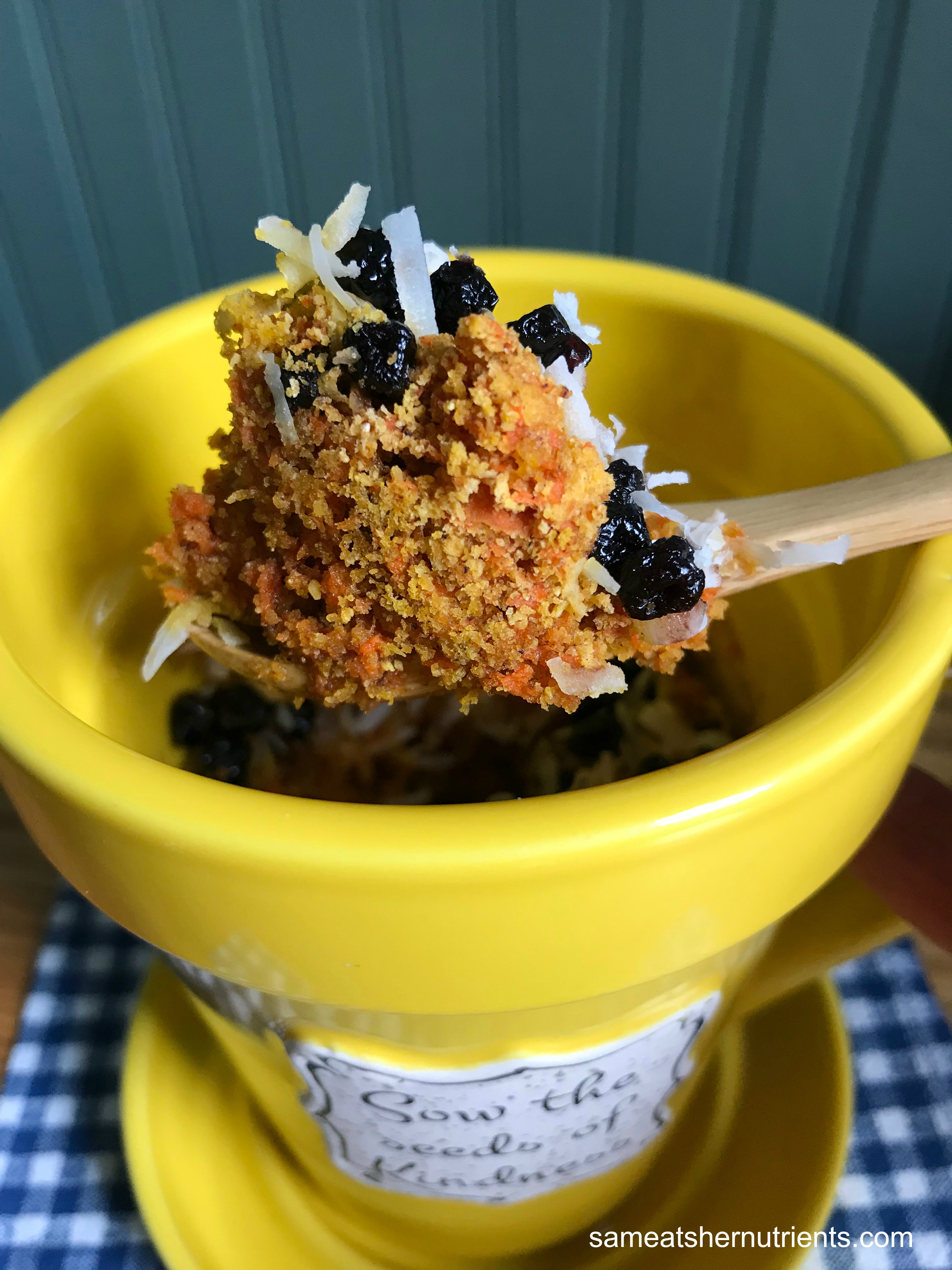 AIP Carrot Cake Mug Muffin - Paleo