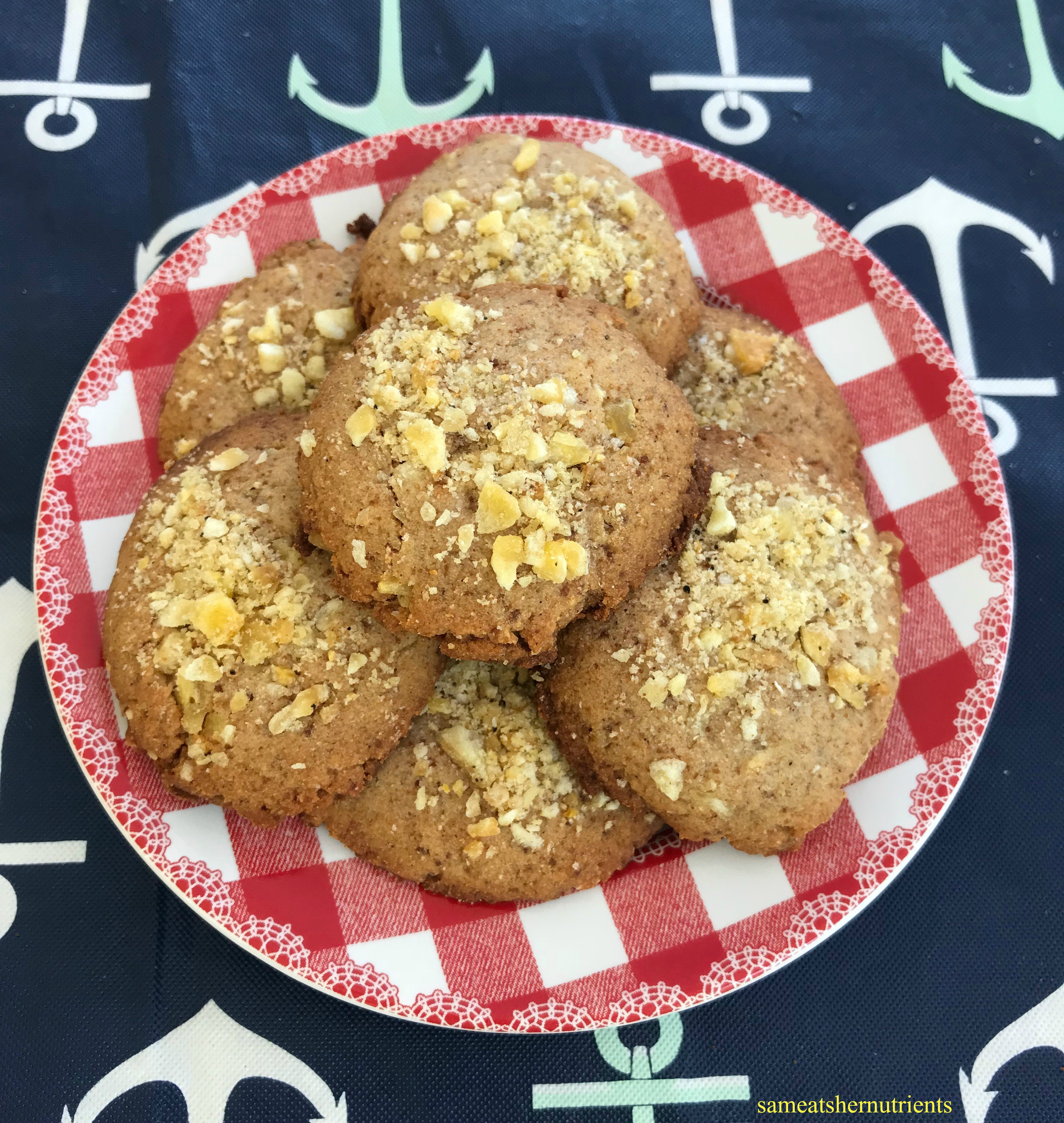 plate of banana crunch cookies - AIP Paleo