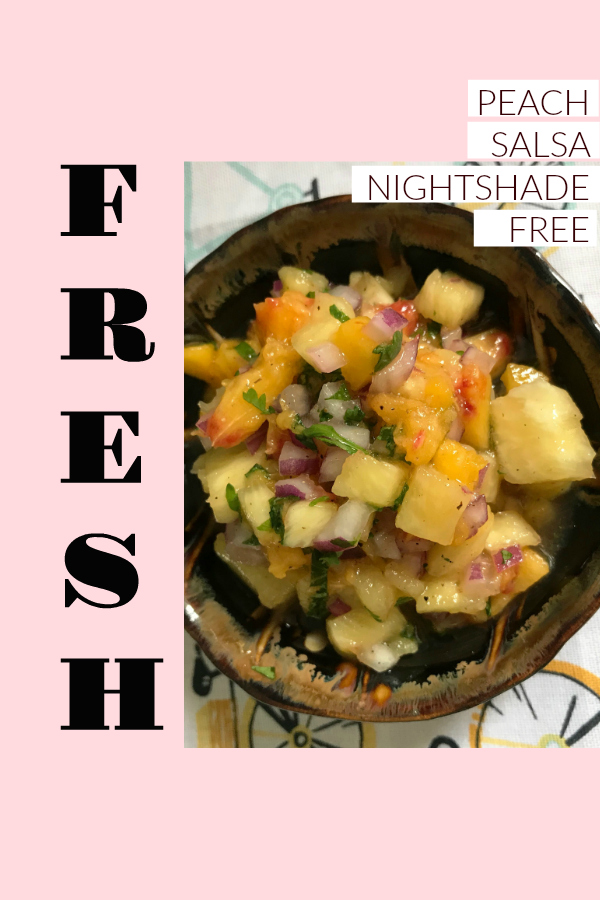 Fresh Peach Salsa Nightshade Free