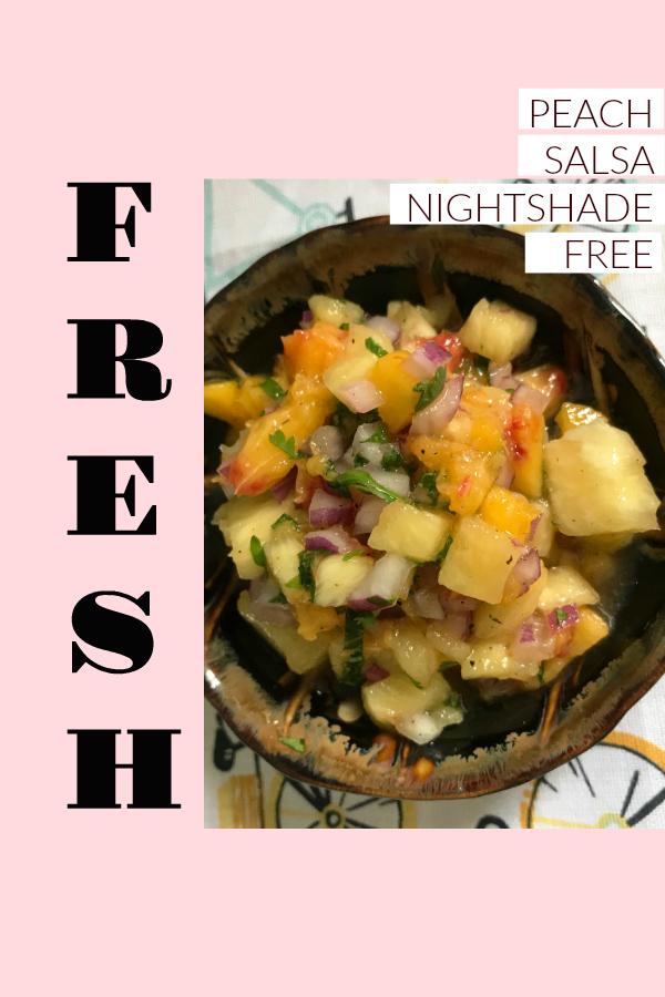Fresh Peach Salsa Nightshade Free
