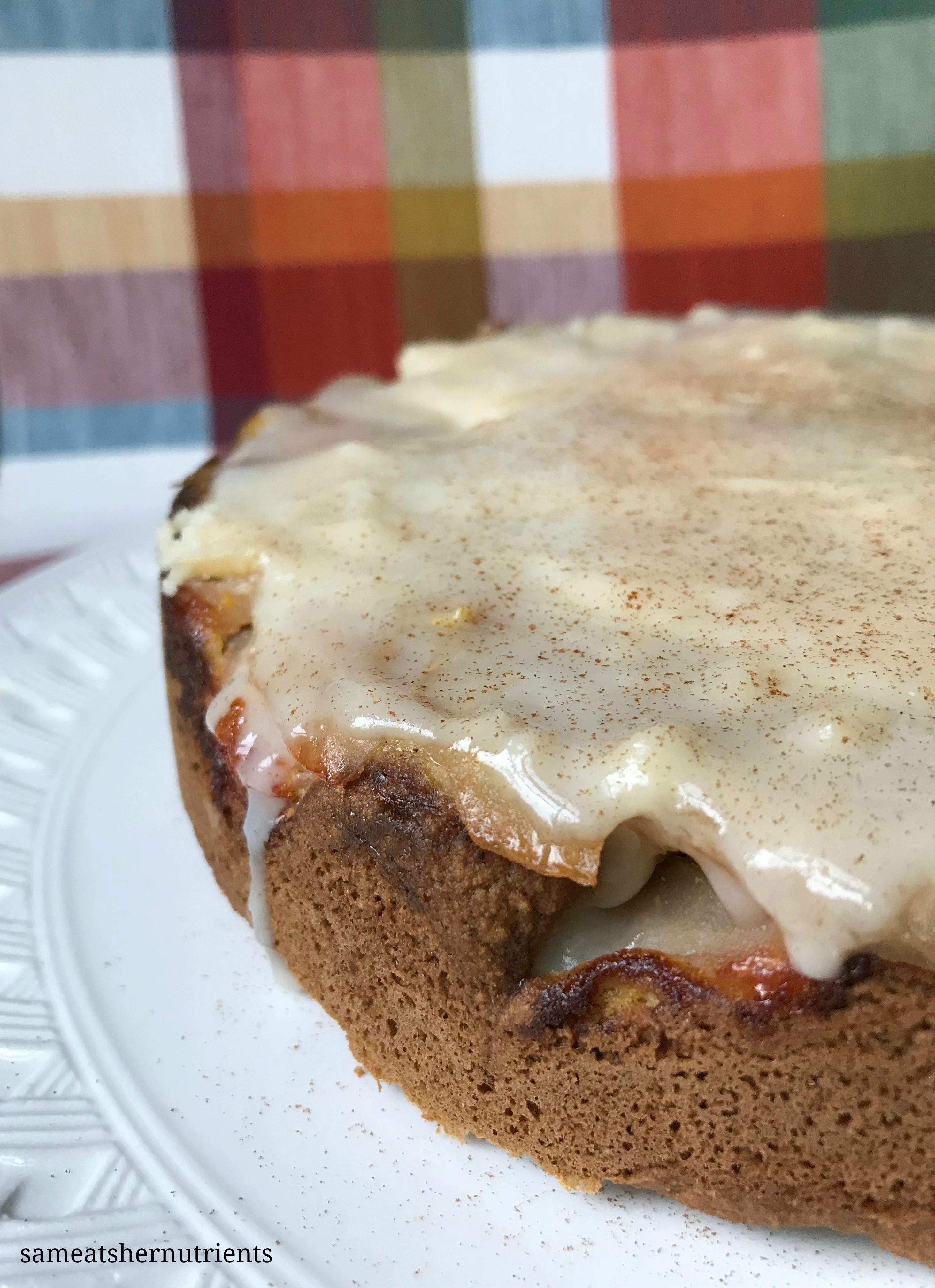 Apple Maple Cake Grain Free Moist and Delicious