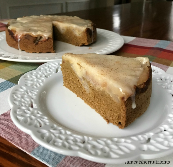 Apple Maple Coffee Cake with Maple Glaze Paleo