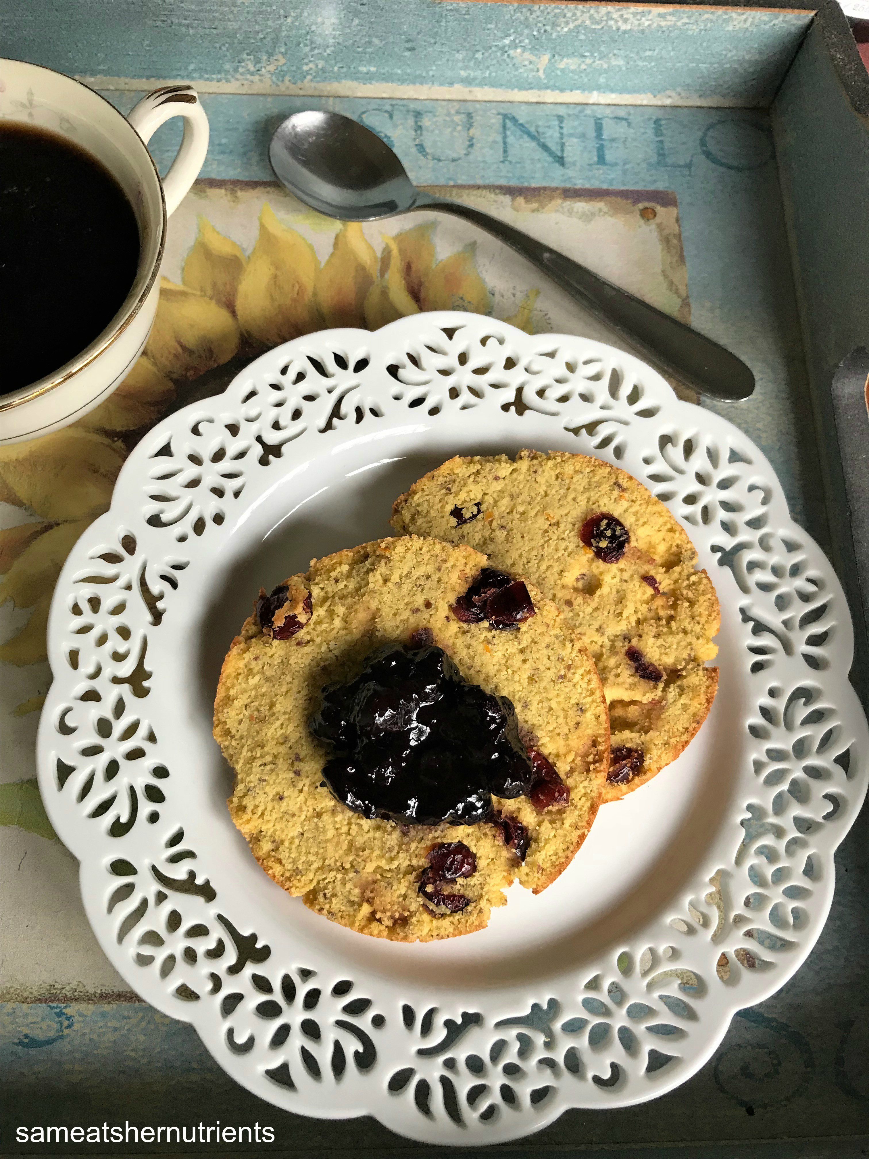 Cranberry Orange English Muffins Grain Free