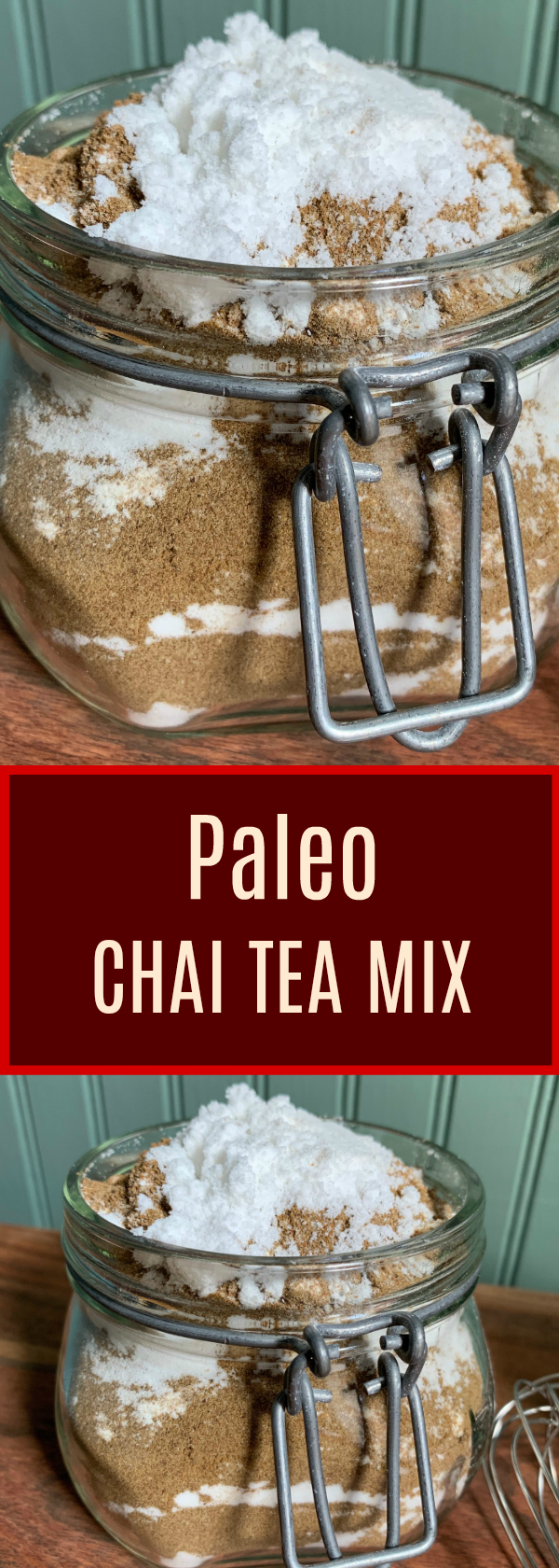 Paleo Chai Tea Mix. Combine it with hot water or your favorite non-dairy milk for a delicious hot Chai that is sweetened with coconut sugar!