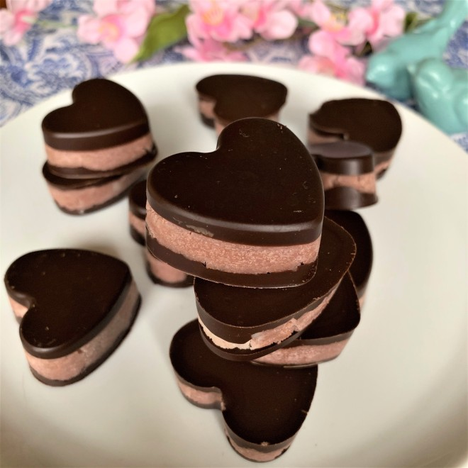 chocolate cherry hearts gluten free dairy free