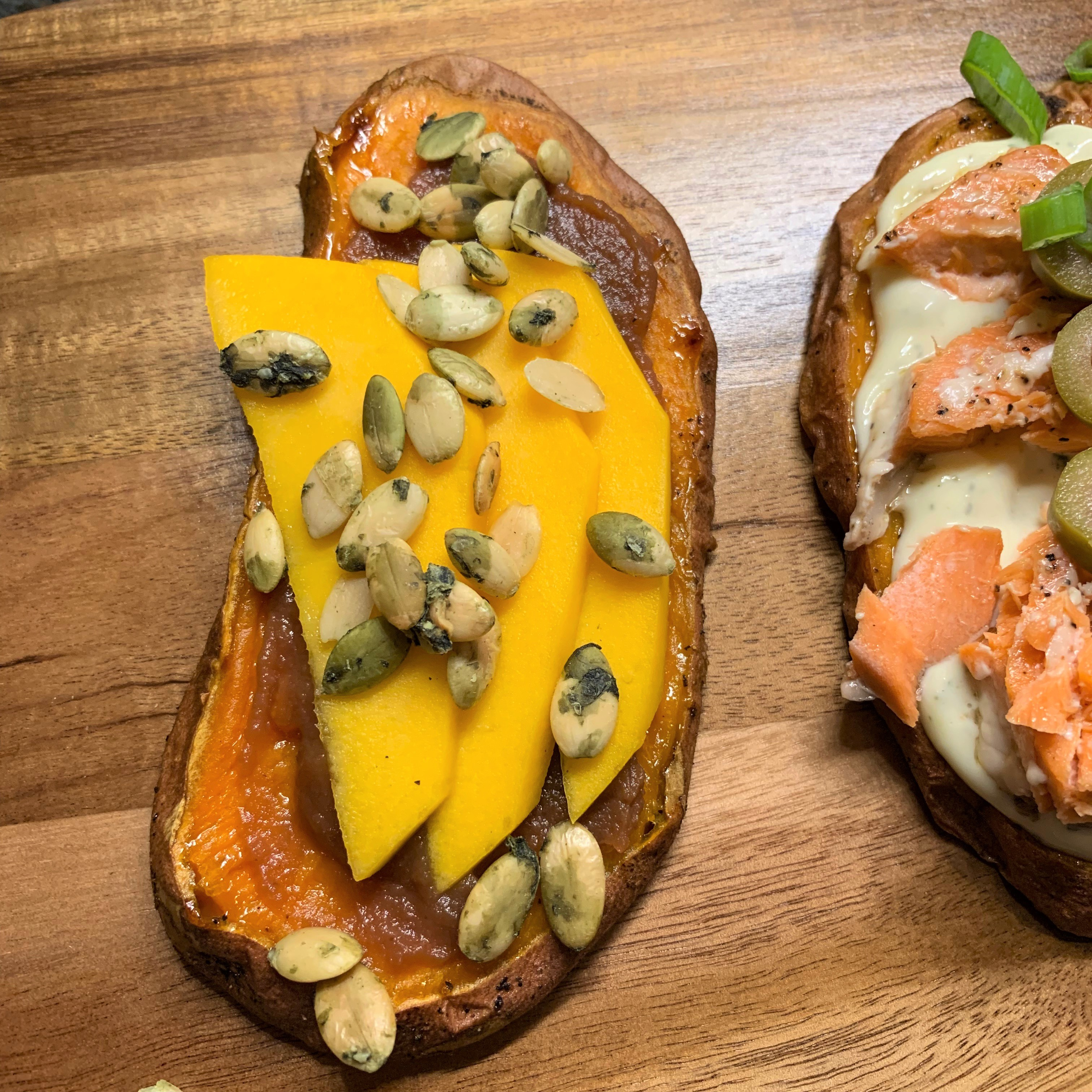 Mango Sweet Potato Toast