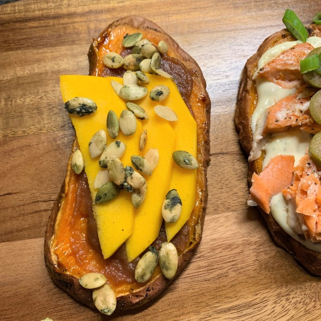 Mango Sweet Potato Toast