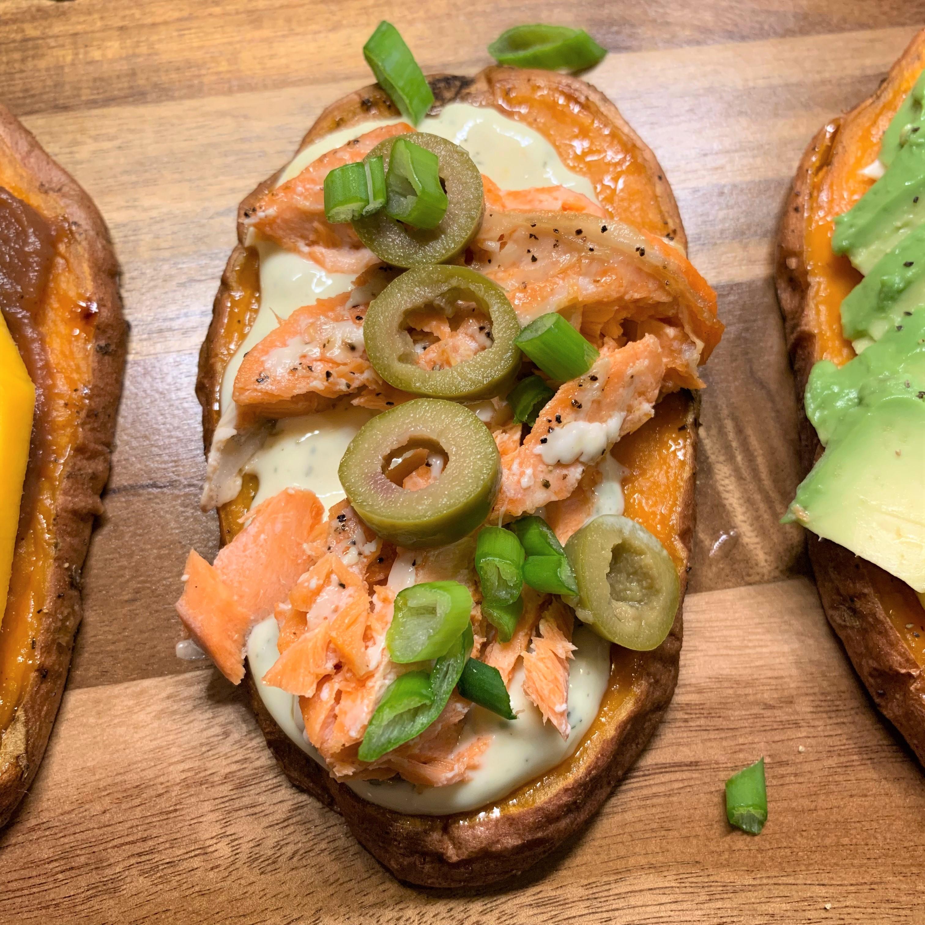 Salmon Sweet Potato Toast