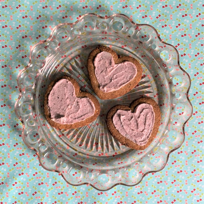 Trio of Iced Valentines Day Cookies
