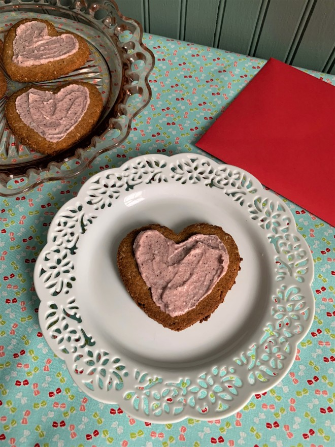 Valentines Day AIP Cutout Heart Cookies