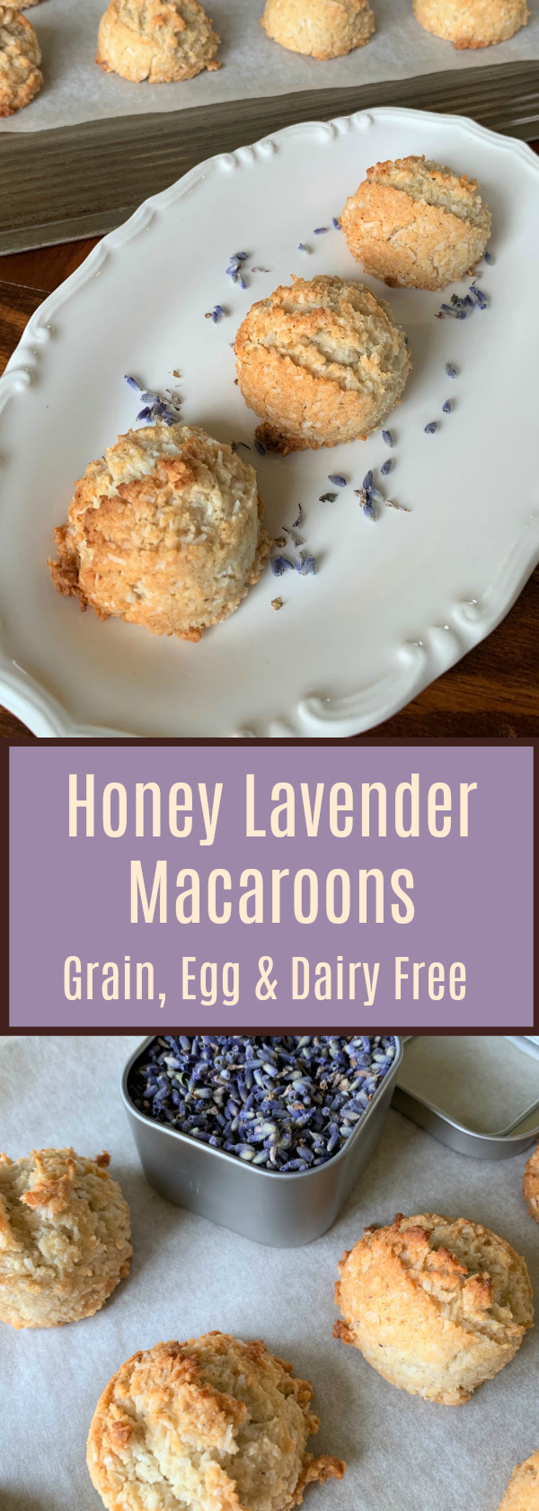Honey Lavender Macaroons are so light and delicious for Spring! These are Gluten, Grain, Dairy and Egg Free and AIP Paleo!