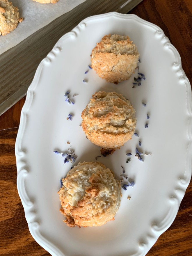 Honey Lavender Macaroons Egg Free