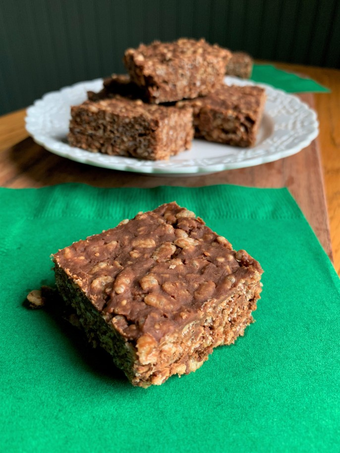 Nutty Chocolate Crispy Bars