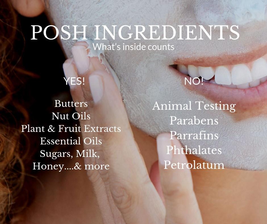posh ingredients face