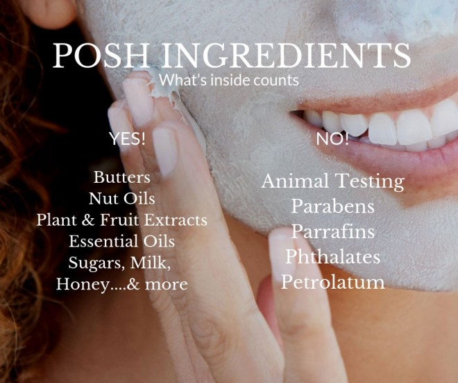 posh ingredients face