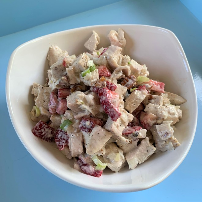 Strawberry Lemon Pepper Chicken Salad 1