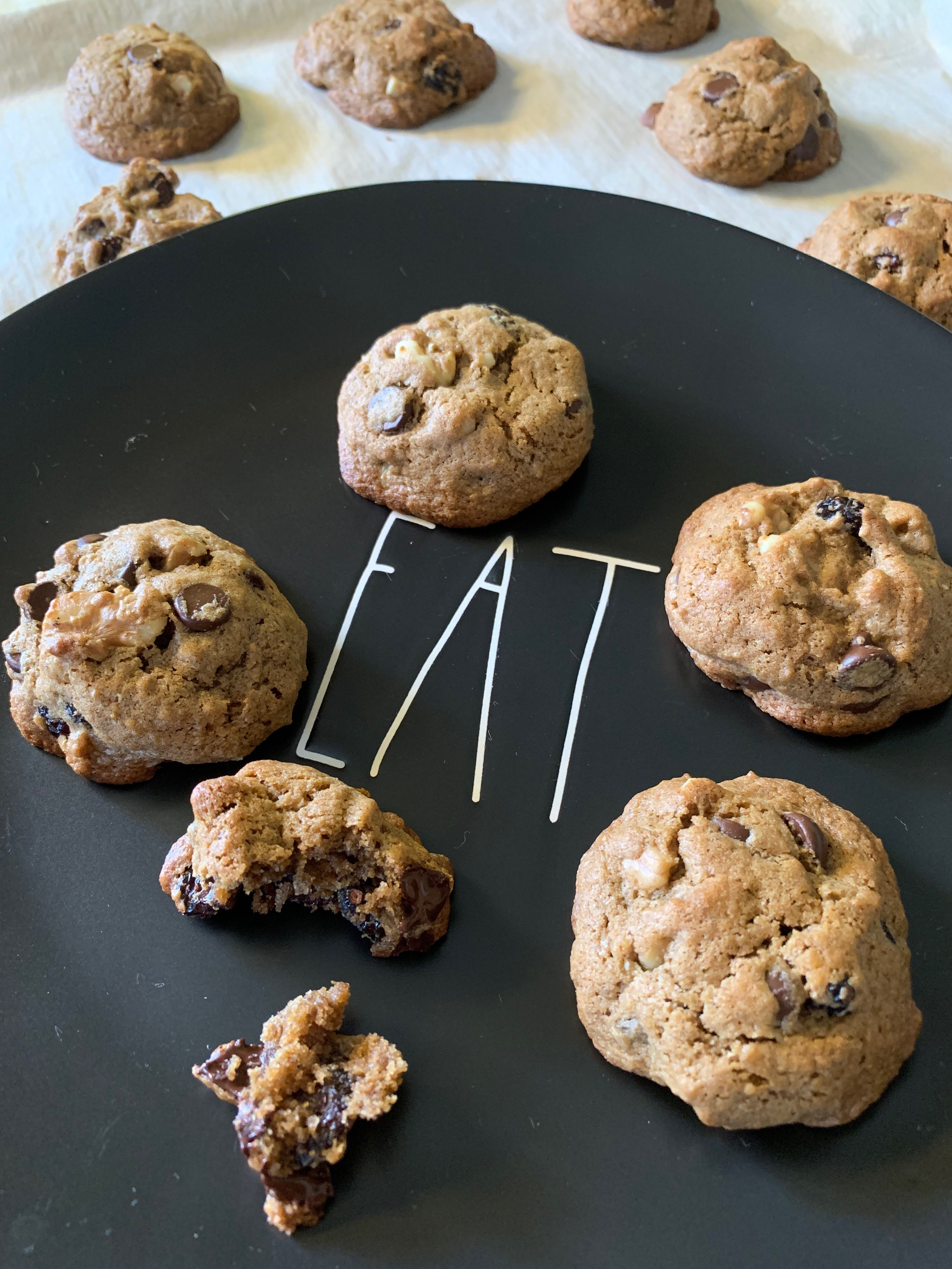 Gluten and Grain Free Banana Flour Chocolate Chip Cookies