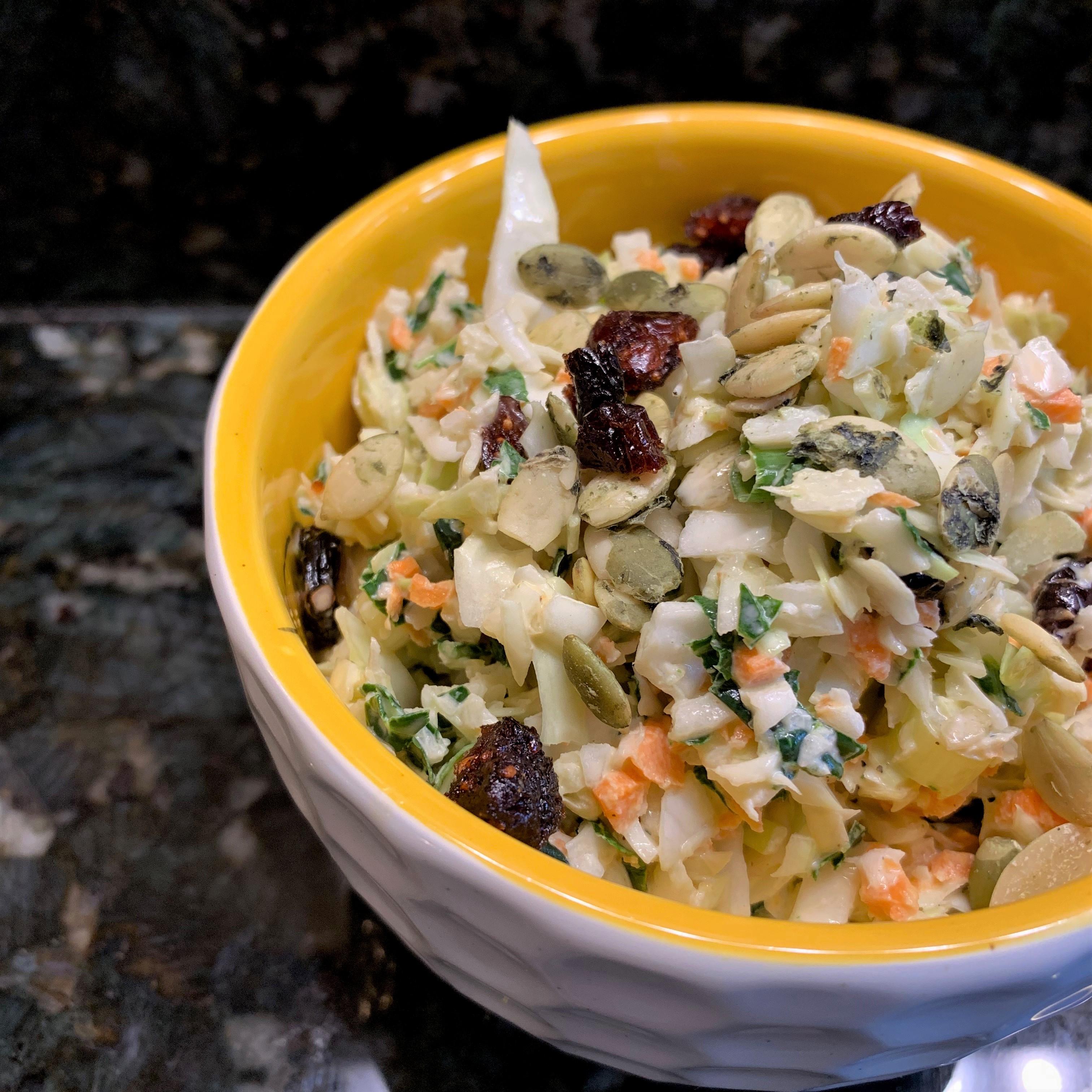 Kale, Cranberry, Pumpkin Seed Slaw 2