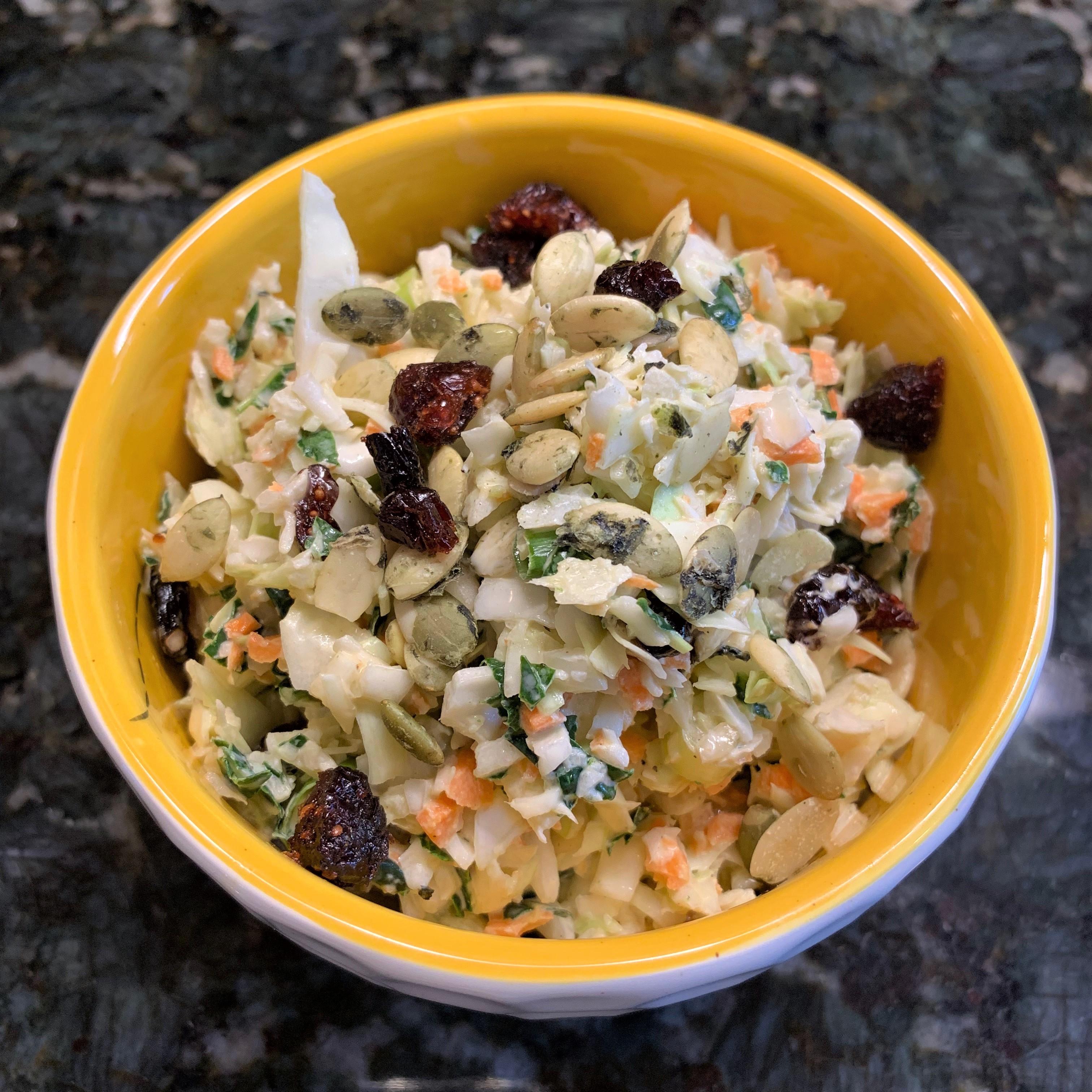 Kale, Cranberry, Pumpkin Seed Slaw