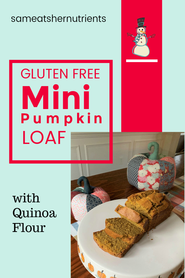 Gluten Free Mini Pumpkin Loaf with Quinoa Flour and Maple Sugar