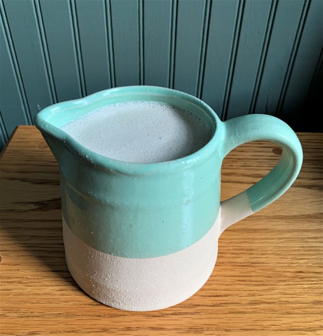 Sunflower Seed Milk in a Pitcher