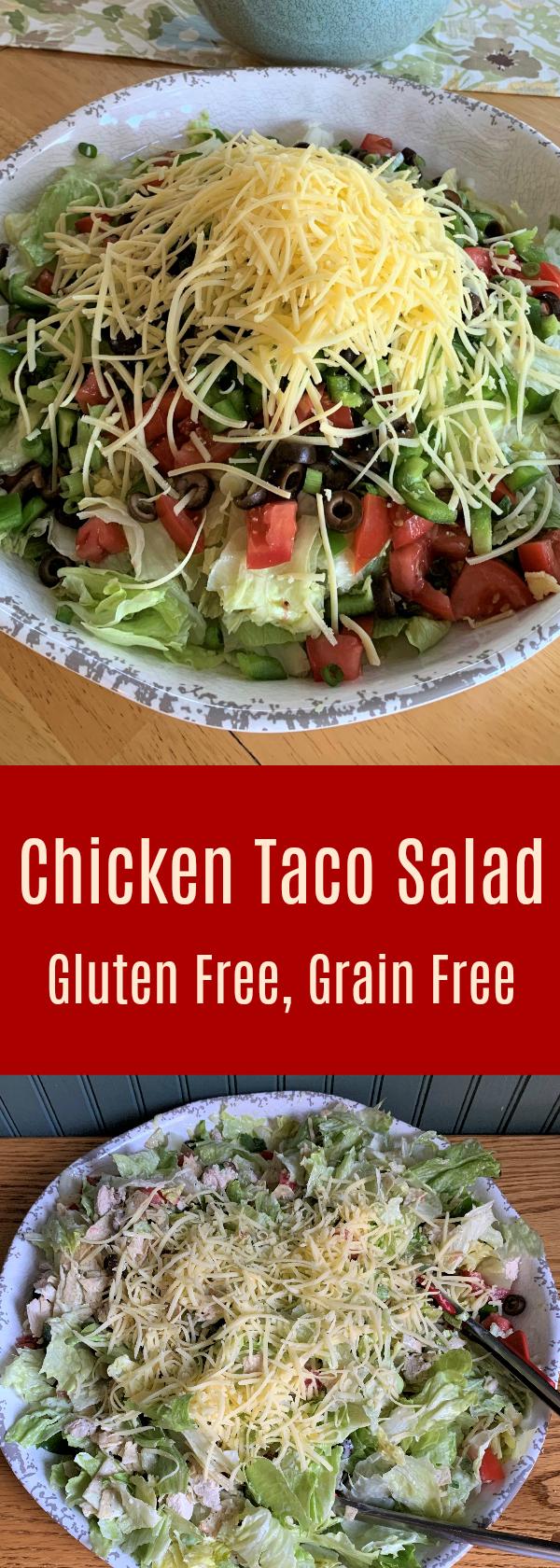 Chicken Taco Salad Grain Free Gluten Free