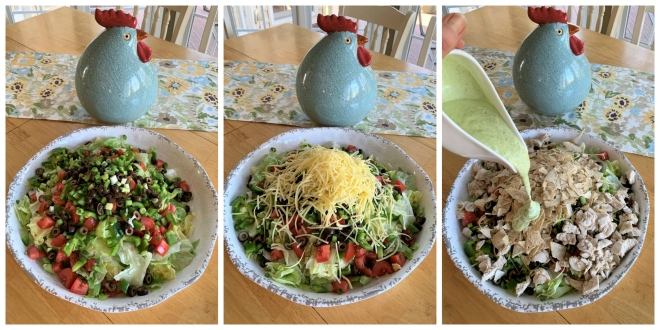 Chicken Taco Salad Trio